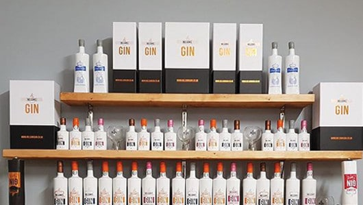 Nelson's Gin display